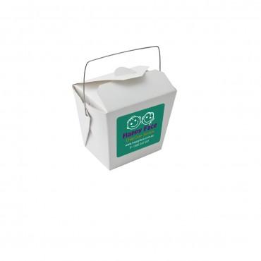 Plain Noodle box with Wire Handle