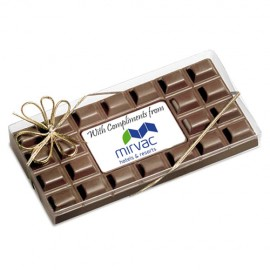 385 grams of Chocolates- Large Chocolate bar with Custom Printed Centre Piece