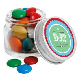 Mini Glass Jar with Mixed Chocolate Gems