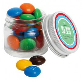 Mini Glass Jar with M&M's