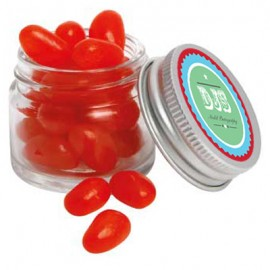 Mini Glass Jar with Mini Jelly Beans (Corporate Colour)