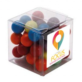 Big Clear Cube with Mixed Chocolate Balls