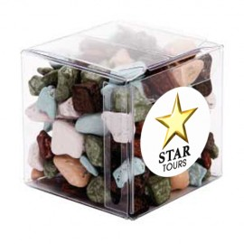 Big Clear Cube with Chocolate Rocks