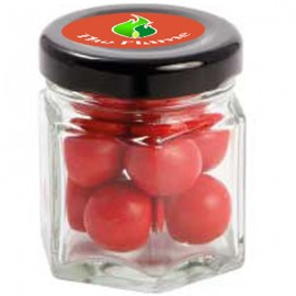 Small Hexagon Jar with Choc Red Balls_ Jaffa Lookalikes