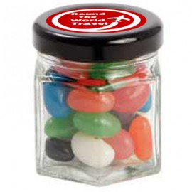 Small Hexagon Jar with Mixed Mini Jelly Beans
