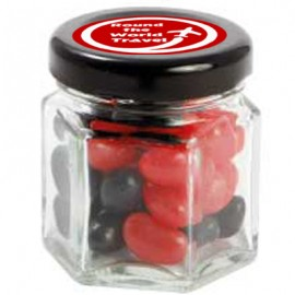Small Hexagon Jar with Mini Jelly Beans (Corporate Colour)