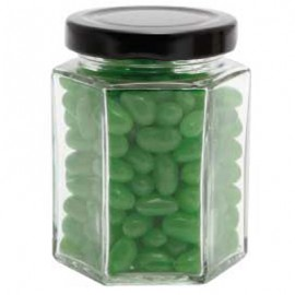 Large Hexagon Jar with Mini Jelly Beans (Corporate Colour)