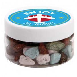 Small Plastic Jar with Chocolate Rocks