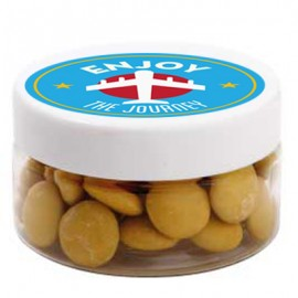 Small Plastic Jar with Chocolate Gems (Corporate Colour)