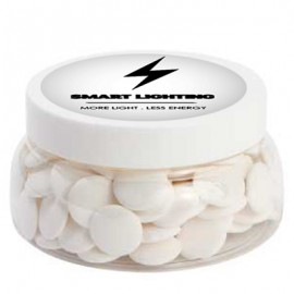 Large Plastic Jar with Flat Mints