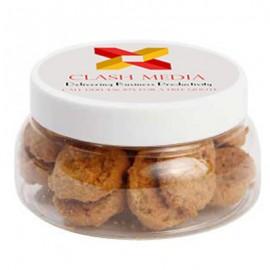 Large Plastic Jar with Mini Cookies