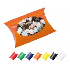 Window Pillow Box with Chocolate Rocks