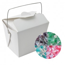 Paper Noodle Box with Acid Drops (Corporate Colour)
