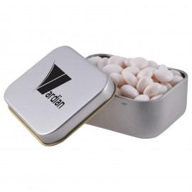 Minty Chews in Silver Rectangular Tin
