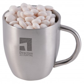 Minty Chews in Double Wall Stainless Steel Curved Mug