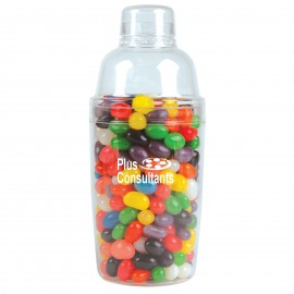 Assorted Colour Mini Jelly Beans in Acrylic Cocktail Shaker