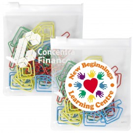 Assorted Colour House Paperclips in PVC Zipper Pouch