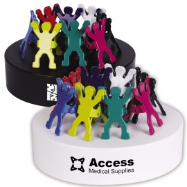 Assorted Colour Gymnast Clips on Paperweight Magnetic Base