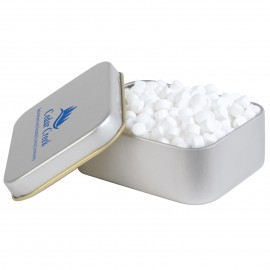 Peppermints in Silver Rectangular Tins