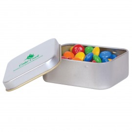 M&M's in Silver Rectangular Tin