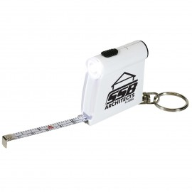 Tape Measure Flashlight Keytag