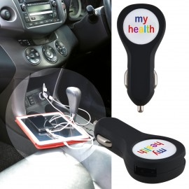 Brandcharger Dual USB Outlet Car Charger with Dome