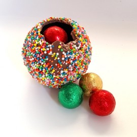 3D Xmas Freckle Ball with Balls / Stars in White Box