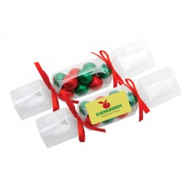 Clear Christmas Cracker with Chocolate Baubles