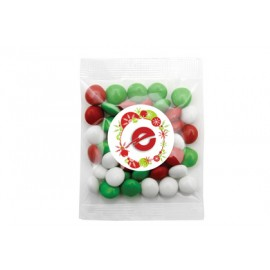 Red,Green and White Mix of Chocolate Gems