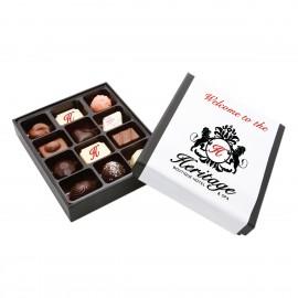 2 Premium Printed Belgian Chocolate truffles with 10 Assorted Belgian chocolates