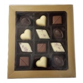 12pc (Unbranded) Chocolate Gift Box with Ribbon