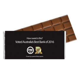 Large Chocolate Bar with Customised Wrapper (Standard & Belgian chocolate)