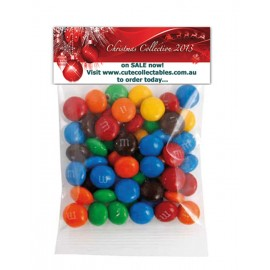 Custom Printed M&M's Header bags