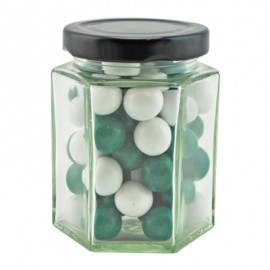 Large Hexagon Jar with Choc Mint Balls