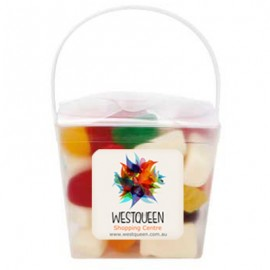 CLear Noodle box with Mixed Lollies