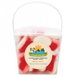 Clear Noodle box with Strawberries & Cream