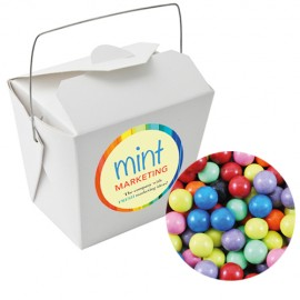 Paper Noodle Box with Chocolate Balls (Corporate Colour)