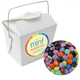 Paper Noodle Box with Mixed Chocolate Gems
