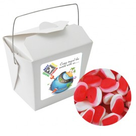Paper Noodle Box with Strawberries & Cream