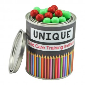 Medium Paint Tin with Chocolate Balls (Red Jaffa Look alike Or Green & White chocolate peppermint balls