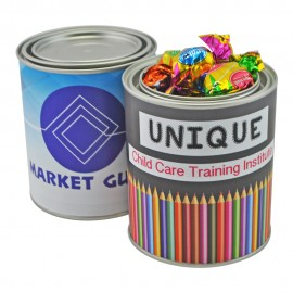 Custom Branded Medium Paint Tin with Toffees