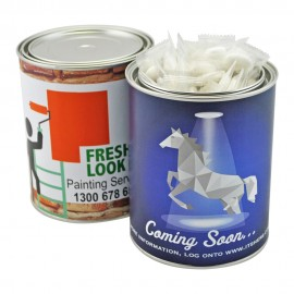 Large Paint Tin with Individually Wrapped Mints