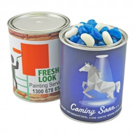 Large Paint Tin with Jelly Beans (Corporate Colour)