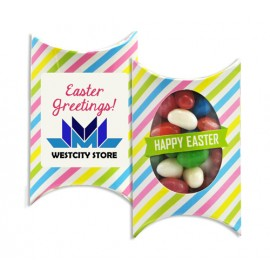 Printed Window Easter Pillow box with Mixed Mini Jelly Beans