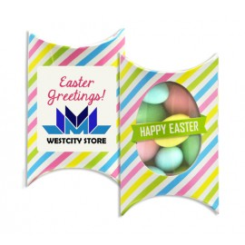Printed Window Easter Pillow box with Sugar Almonds