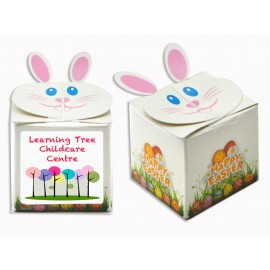 Printed Easter Bunny box with Mini Easter Eggs (assorted mix of colours)