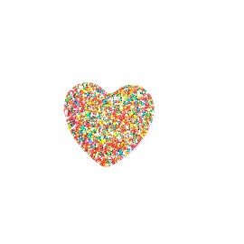 Chocolate Heart Freckle with Custom Printed Sticker