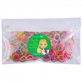 Logo Loom Bands in PVC Organiser / Pencil Case with Zipper