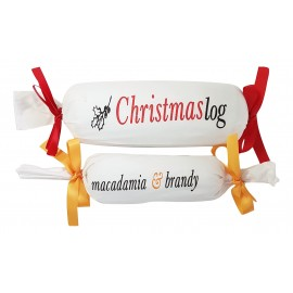 Traditional 500 gram Gluten Free Christmas Puddings wrapped in Custom Printed Cloth
