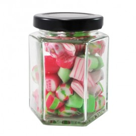 Custom Colour and Flavour Rock candy in a Big Hexagonal Jar